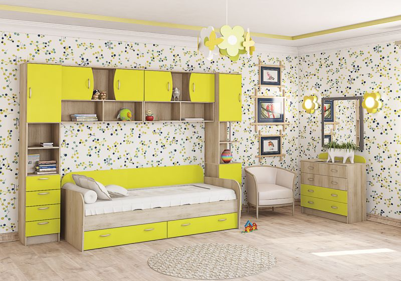 Детская модульная комната Ника капитан детская и взрослая модульная мебель мдф