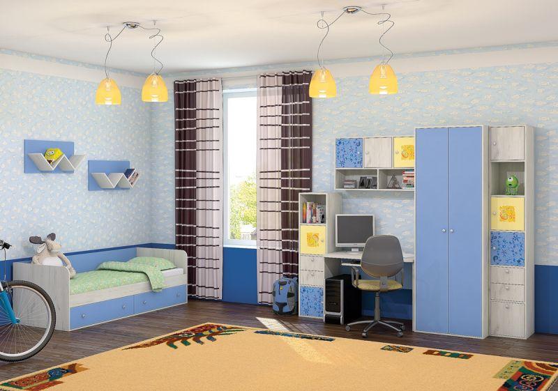 Детская модульная комната Тетрис 1 с фотопечатью диван ру тетрис 1