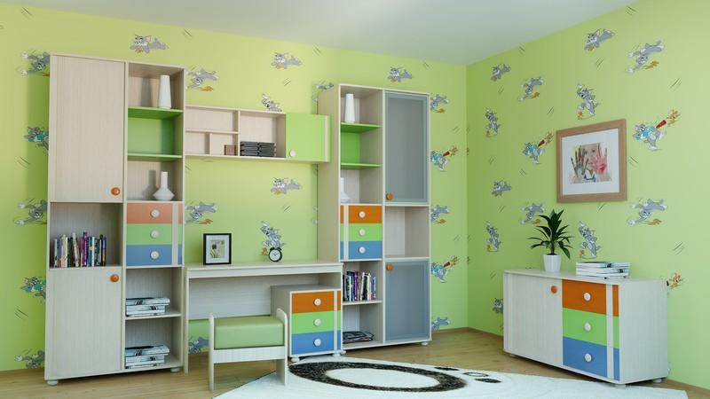 Детская комната МДК 4.13 Комплектация №4 h98 01 ch секция навесная 1дв щит шатура rimini muscat