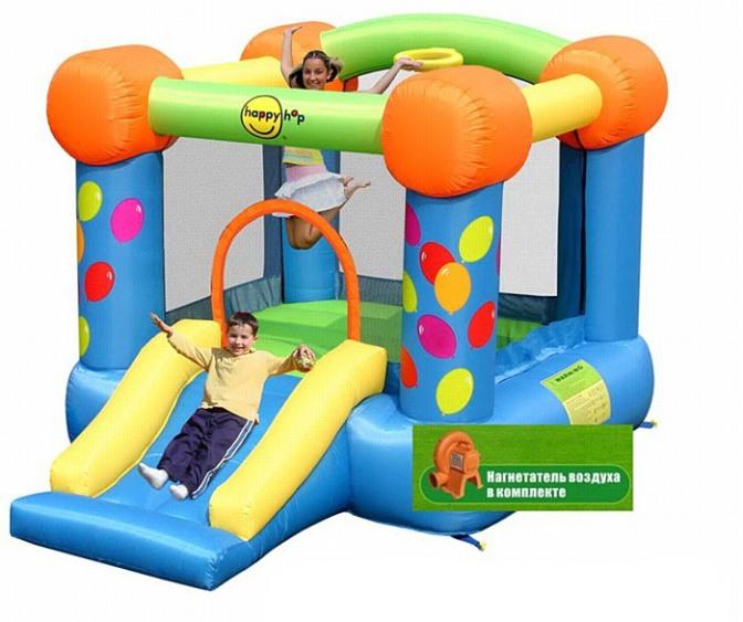 Детский батут Праздничный полет 9070 Happy Hop клипса диоптрийная для очков shimano ce rx clip esmcerxclip2