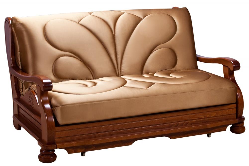 Купить со скидкой Диван аккордеон Милан с деревянными подлокотниками