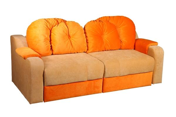 Детский диван ОрсолоДетские диваны<br>Размер: 184х82 (сп.м. 122х152)<br><br>Механизм: Еврокнижка-трансформер<br>Каркас: Деревянный<br>Полный размер: 184х82<br>Спальное место: 122х152<br>Наполнитель: ППУ высокой плотности (Пенополиуретан)<br>Комплектация: Ящик для белья<br>Ткань: Образец по фото в ткани Velvet lux 72, 21 (велюр, пост-к Союз-М) наличие и стоимость уточняйте у менеджера<br>Примечание: Стоимость указана по минимальной категории ткани<br>Изготовление и доставка: 8-10 дней<br>Условия доставки: Бесплатная по Москве до подъезда<br>Условие оплаты: Оплата наличными при получении товара<br>Подъем на грузовом лифте: 500 руб.<br>Подъем без лифта: 250 руб./этаж включая первый<br>Сборка: 200 руб. в день доставки, заказать сборку Вы можете, если у Вас оформлена услуга подъем/занос изделия в помещение<br>Гарантия: 12 месяцев<br>Производство: Россия<br>Производитель: Mebelus