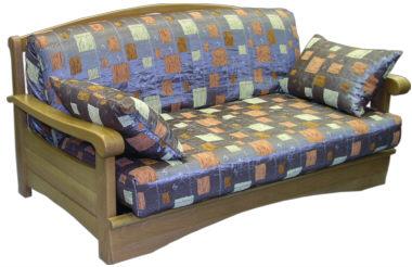Диван аккордеон Рея с деревянными подлокотниками диван аккордеон брест с деревянными подлокотниками