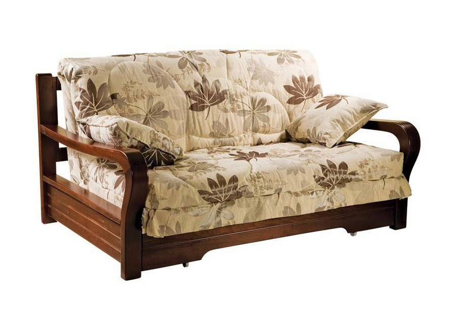 Диван аккордеон Женева с деревянными подлокотниками диван аккордеон брест с деревянными подлокотниками