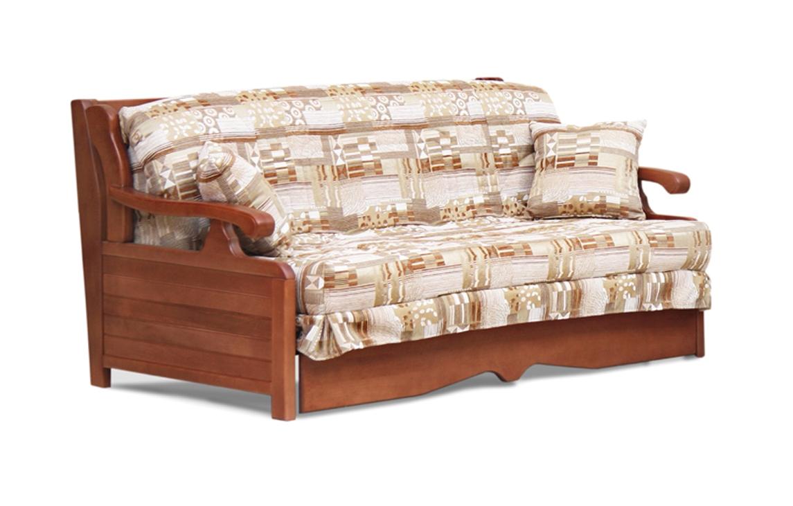 Диван аккордеон Арктур  с деревянными подлокотниками диван аккордеон брест с деревянными подлокотниками