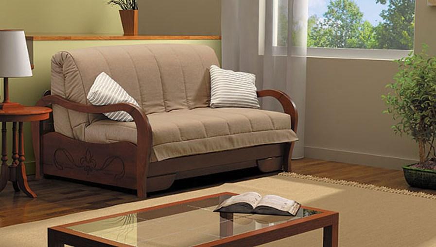 Диван аккордеон Селена с деревянными подлокотниками диван аккордеон брест с деревянными подлокотниками