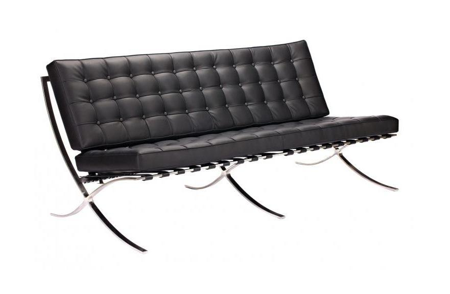 DG-HOME Диван Barcelona Loveseat Black цена и фото