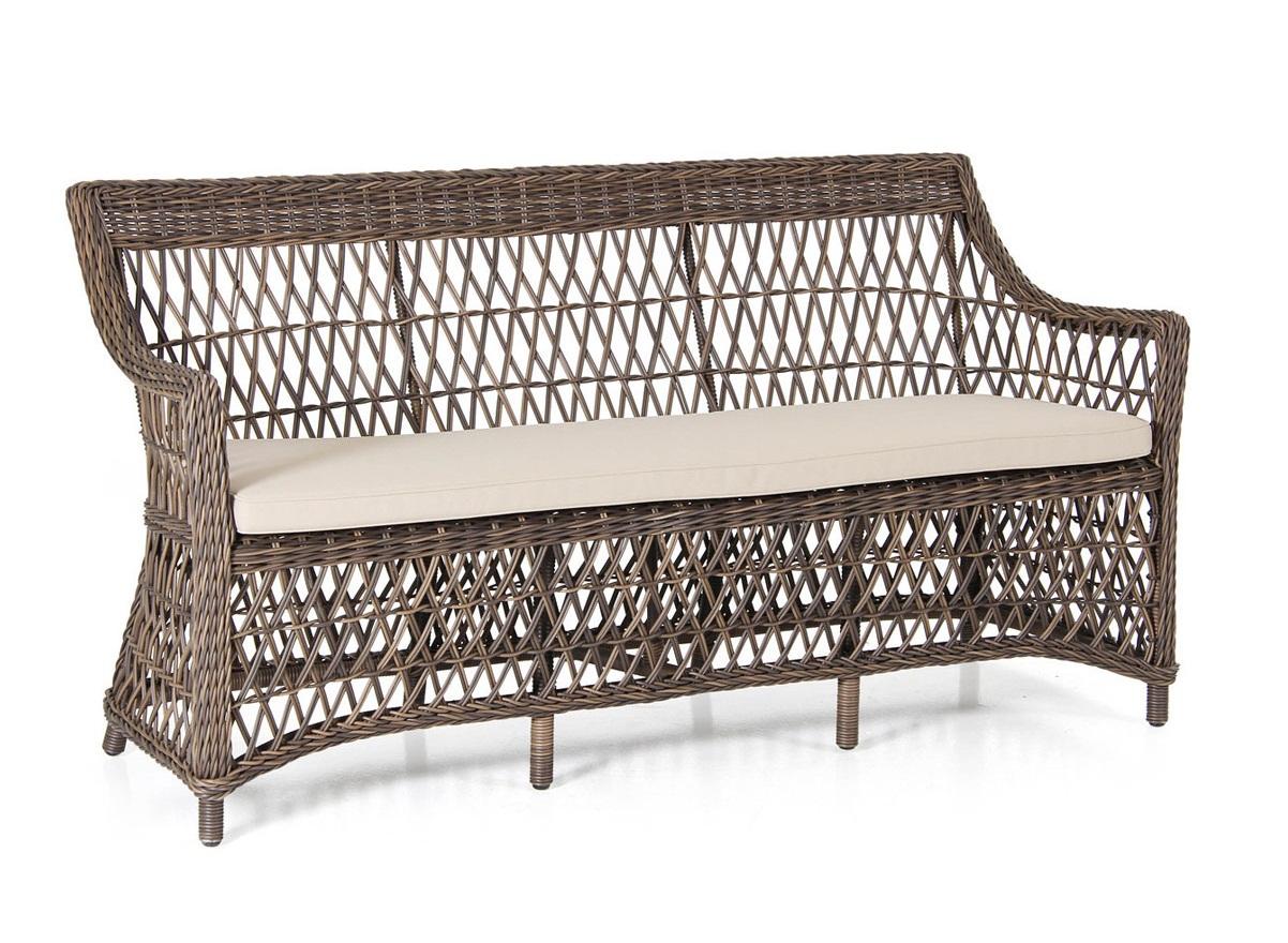 где купить  Плетеный диван Beatrice brown  по лучшей цене
