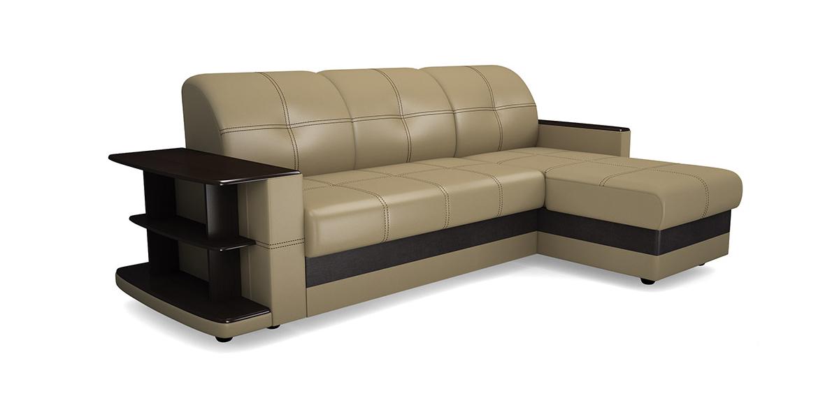 Угловой диван Виза 08 П трапеция с барным столиком