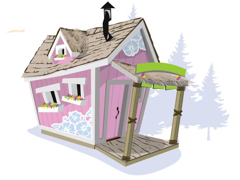 Домик для девочки KidsCrookedHouse