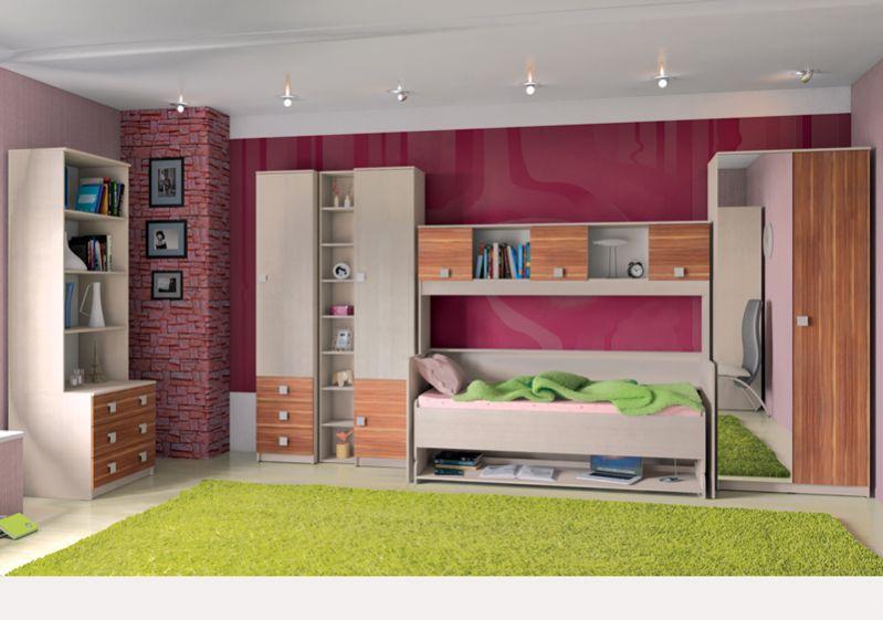Детская модульная комната Доминика капитан детская и взрослая модульная мебель мдф