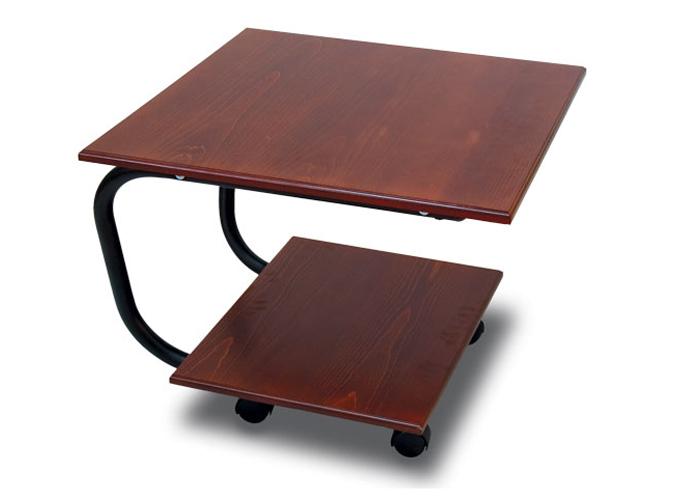 Стол журнальный Дуэт 11МЖурнальные столики<br>Размер: 600х500 В600<br><br>Материалы: МДФ, металл<br>Полный размер (ДхГхВ): 600х500х600<br>Вес товара (кг): 12<br>Цвет: Средне-коричневый,  тeмно-коричневый<br>Изготовление и доставка: 2-3 дня<br>Условия доставки: Бесплатная по Москве до подъезда<br>Условие оплаты: Оплата наличными при получении товара<br>Доставка по МО (за пределами МКАД): 30 руб./км<br>Подъем на лифте: 200 руб.<br>Гарантия: 12 месяцев<br>Производство: Россия