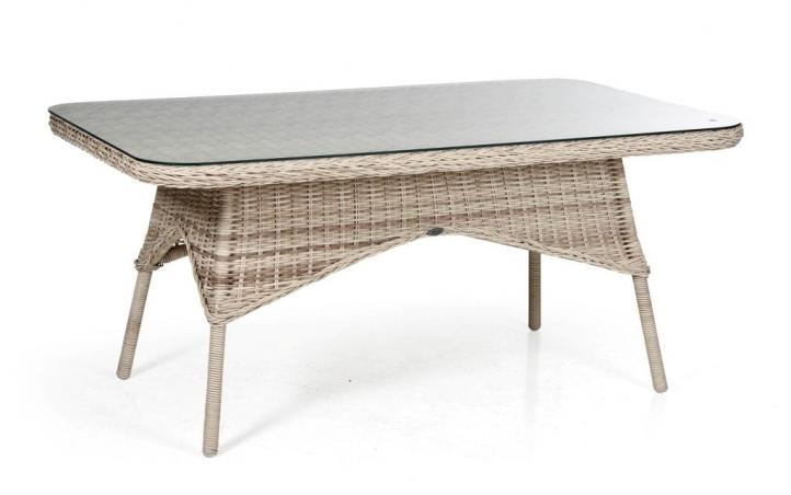 Плетеный стол Evita beigeПлетеная мебель из искусственного ротанга<br>Размер: 150х90 В67<br><br>Артикул: 5646-53<br>Материалы: Искусственный ротанг, прозрачное-высокопрочное стекло<br>Каркас: Алюминиевый<br>Вес товара (кг): 13,6<br>Цвет: Бежевый<br>Изготовление и доставка: 2-3 дня<br>Условия доставки: Бесплатная по Москве до подъезда<br>Условие оплаты: Оплата наличными при получении товара<br>Производство: Швеция<br>Производитель: Brafab