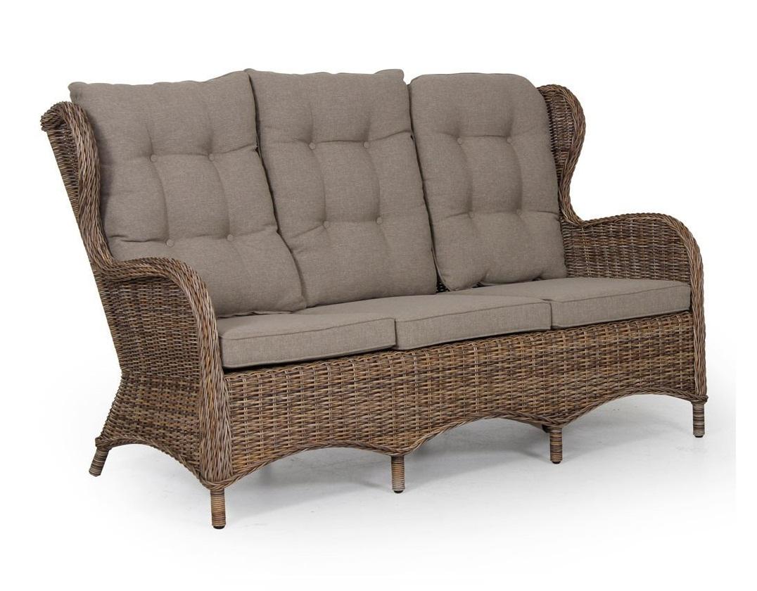 Плетеный диван Evita brown
