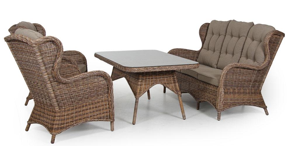 Комплект плетеной мебели Evita brown