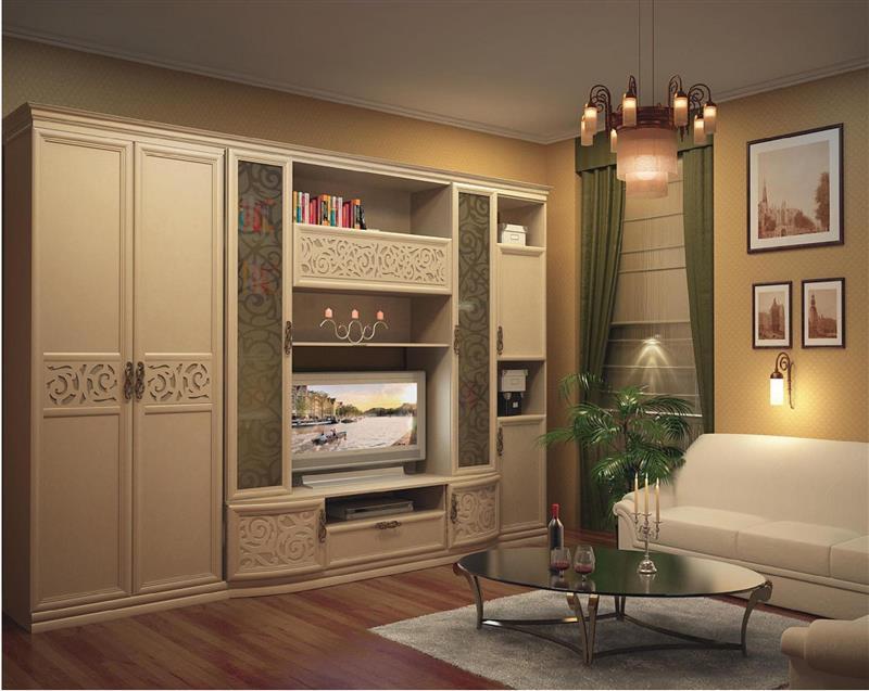 Любимый дом Модульная стенка в гостиную Александрия №3