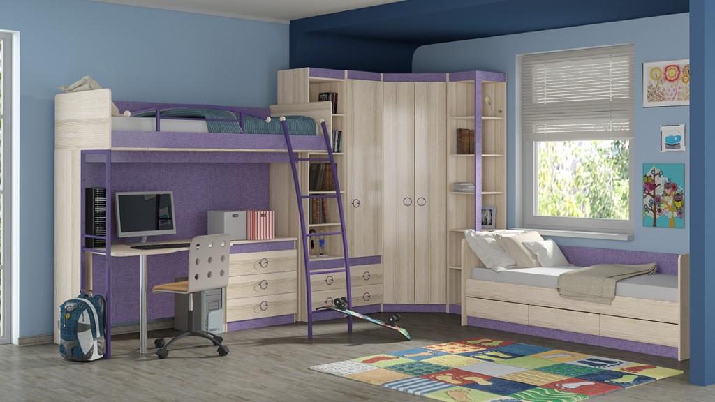 Модульная детская комната Индиго №18 ГН-145.018