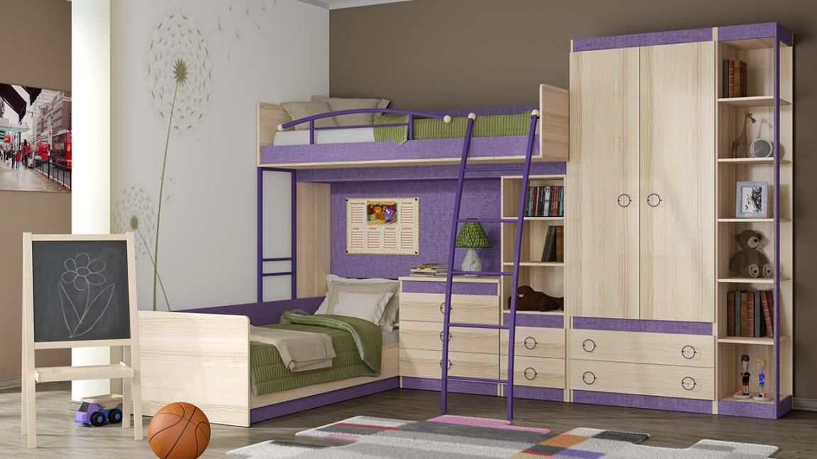 Модульная детская комната Индиго №16 ГН-145.016