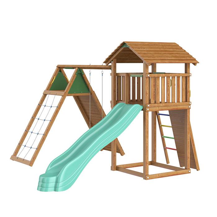 Детский комплекс Jungle Cottage + Climb Module X