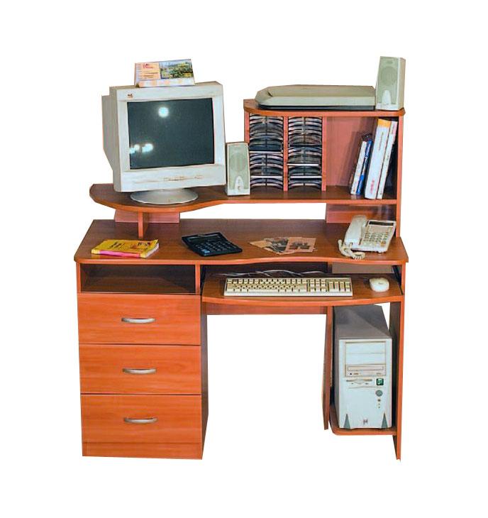 Компьютерный стол с надстройкой КС-10М + КН-102Офисные столы<br>Размер: 1000x650 В1260<br><br>Материалы: ЛДСП, кромка ПВХ<br>Полный размер: 1000x650 В1260<br>Примечание: Доставляется в разобранном виде<br>Изготовление и доставка: 8-10 дней<br>Условия доставки: Бесплатная по Москве до подъезда<br>Условие оплаты: Оплата наличными при получении товара<br>Подъем на лифте: 300 руб.<br>Подъем без лифта: 150 руб./этаж, включая первый<br>Сборка: 1000 руб.<br>Гарантия: 12 месяцев<br>Производство: Россия<br>Производитель: Мебелайн