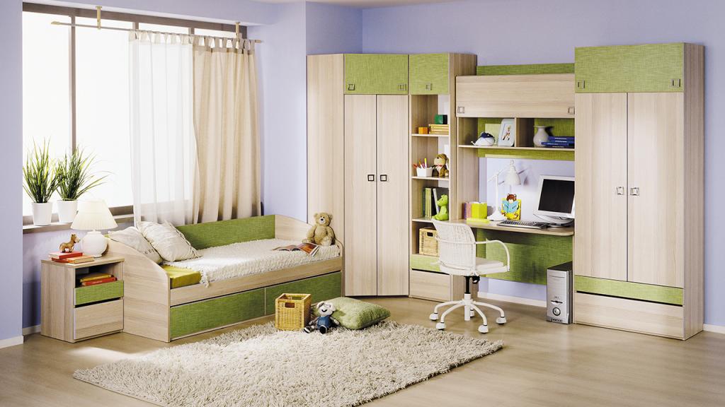 Модульная детская комната Киви №14 ГН-139.014 cтенка для гостиной трия нео пм 106 00 дуб сонома