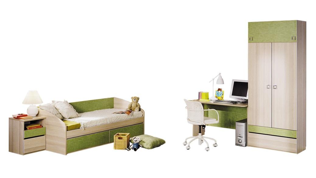 Модульная детская комната Киви №1 ГН-139.001 cтенка для гостиной трия нео пм 106 00 дуб сонома