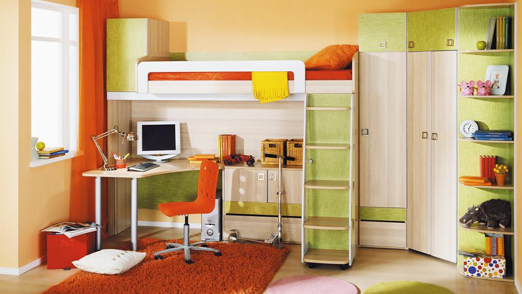 Модульная детская комната Киви №15 ГН-139.015 cтенка для гостиной трия нео пм 106 00 дуб сонома