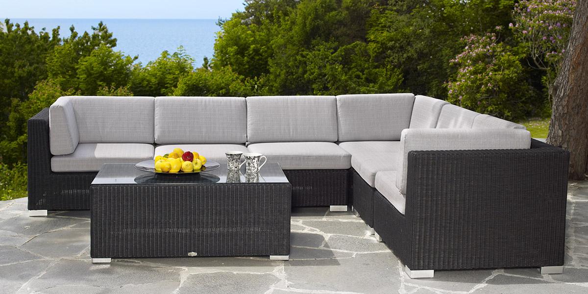 Комплект плетеной мебели FORUM black