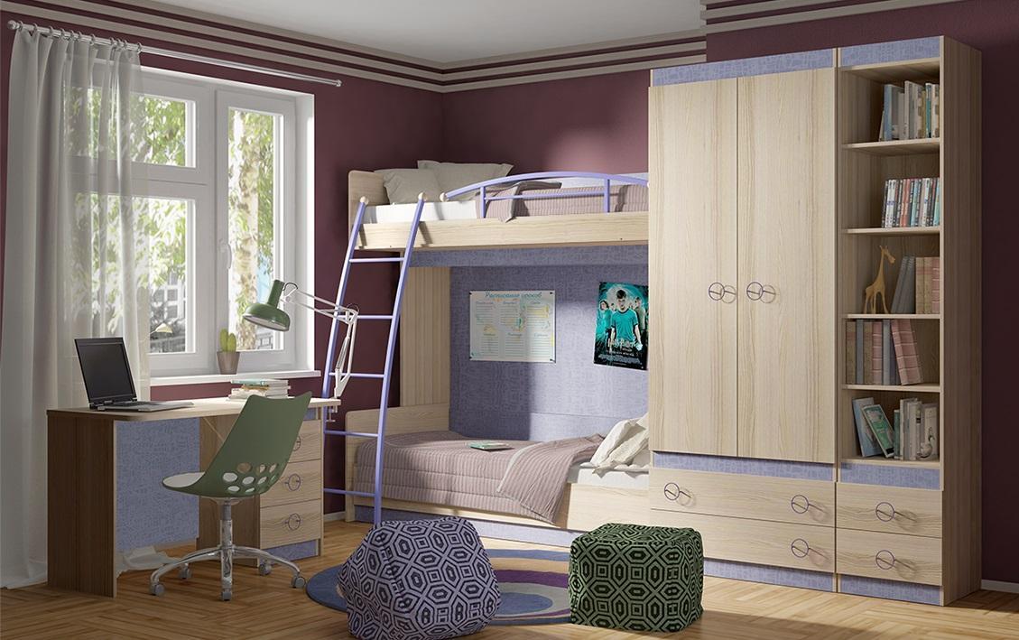 Модульная детская комната Индиго №1 ГН-145.019