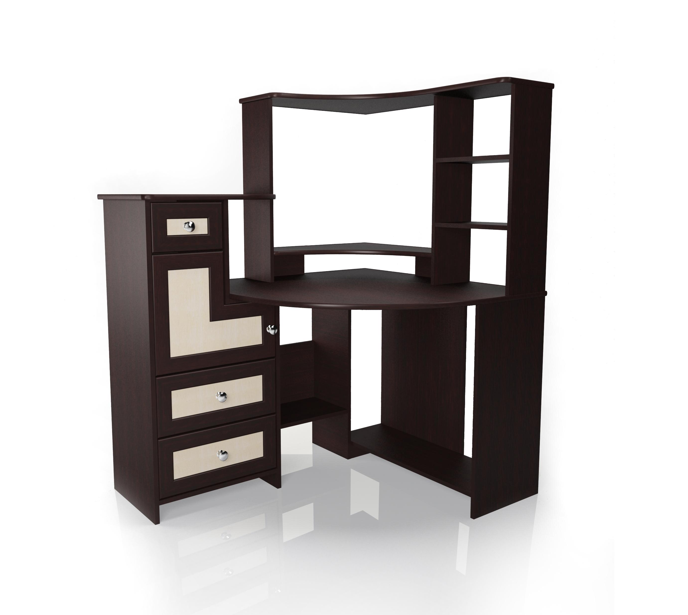 Компьютерный стол Мебелайн-7 радиусный шкаф купе мебелайн 7