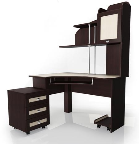 Компьютерный стол Мебелайн-14Компьютерные столы<br>Размер: 1200/1200 В1760<br><br>Материалы: ЛДСП, кромка ПВХ, рамка МДФ<br>Полный размер: 1200/1200 В1760<br>Примечание: Доставляется в разобранном виде<br>Изготовление и доставка: 5-7 дней, дни доставок среда и суббота<br>Условия доставки: Бесплатная по Москве до подъезда<br>Условие оплаты: Оплата наличными при получении товара<br>Доставка по МО (за пределами МКАД): 30 руб./км<br>Доставка в пределах ТТК: Доставка в центр Москвы осуществляется ночью, с 22.00 до 6.00 утра<br>Подъем на лифте: 300 руб.<br>Подъем без лифта: 150 руб./этаж<br>Сборка: 1000 руб.<br>Гарантия: 12 месяцев<br>Производство: Россия<br>Производитель: Мебелайн