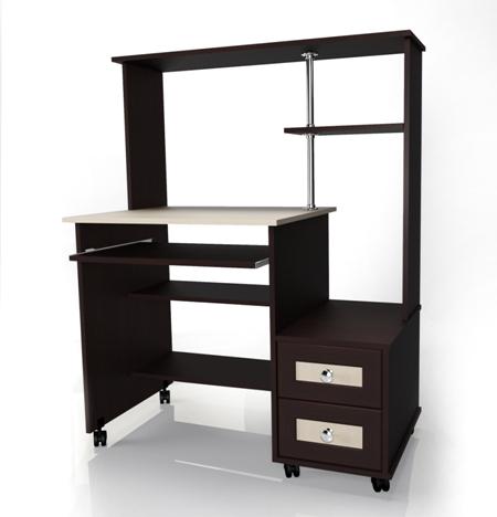 Компьютерный стол Мебелайн-26Компьютерные столы<br>Размер: 1000х600 В1275<br><br>Материалы: ЛДСП, кромка ПВХ, рамка МДФ<br>Полный размер (ДхГхВ): 1000х600х1275<br>Примечание: Доставляется в разобранном виде<br>Изготовление и доставка: 5-7 дней, дни доставок среда и суббота<br>Условия доставки: Бесплатная по Москве до подъезда<br>Условие оплаты: Оплата наличными при получении товара<br>Доставка по МО (за пределами МКАД): 30 руб./км<br>Доставка в пределах ТТК: Доставка в центр Москвы осуществляется ночью, с 22.00 до 6.00 утра<br>Подъем на лифте: 300 руб.<br>Подъем без лифта: 150 руб./этаж<br>Сборка: 1000 руб.<br>Гарантия: 12 месяцев<br>Производство: Россия<br>Производитель: Мебелайн