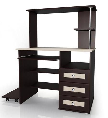 Компьютерный стол Мебелайн-28Компьютерные столы<br>Размер: 950х600 В1300<br><br>Материалы: ЛДСП, кромка ПВХ, рамка МДФ<br>Полный размер (ДхГхВ): 950х600х1300<br>Примечание: Доставляется в разобранном виде<br>Изготовление и доставка: 5-7 дней, дни доставок среда и суббота<br>Условия доставки: Бесплатная по Москве до подъезда<br>Условие оплаты: Оплата наличными при получении товара<br>Доставка по МО (за пределами МКАД): 30 руб./км<br>Доставка в пределах ТТК: Доставка в центр Москвы осуществляется ночью, с 22.00 до 6.00 утра<br>Подъем на лифте: 300 руб.<br>Подъем без лифта: 150 руб./этаж<br>Сборка: 1000 руб.<br>Гарантия: 12 месяцев<br>Производство: Россия<br>Производитель: Мебелайн