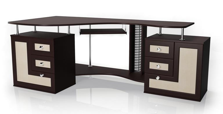 Компьютерный стол Мебелайн-8Компьютерные столы<br>Размер: 2055/960 В756<br><br>Материалы: ЛДСП, кромка ПВХ, рамка МДФ<br>Полный размер (ДхГхВ): 2055х960х756<br>Примечание: Доставляется в разобранном виде<br>Изготовление и доставка: 5-7 дней, дни доставок среда и суббота<br>Условия доставки: Бесплатная по Москве до подъезда<br>Условие оплаты: Оплата наличными при получении товара<br>Доставка по МО (за пределами МКАД): 30 руб./км<br>Доставка в пределах ТТК: Доставка в центр Москвы осуществляется ночью, с 22.00 до 6.00 утра<br>Подъем на лифте: 300 руб.<br>Подъем без лифта: 150 руб./этаж<br>Сборка: 10% от стоимости изделия, но не менее 1,000 руб.<br>Гарантия: 12 месяцев<br>Производство: Россия<br>Производитель: Мебелайн