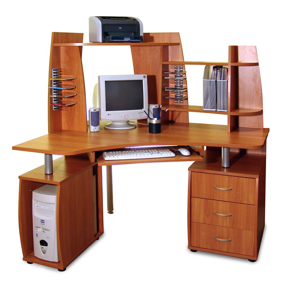 Компьютерный стол с надставкой ПС 04.14.D (с надставкой ВС 04.42)