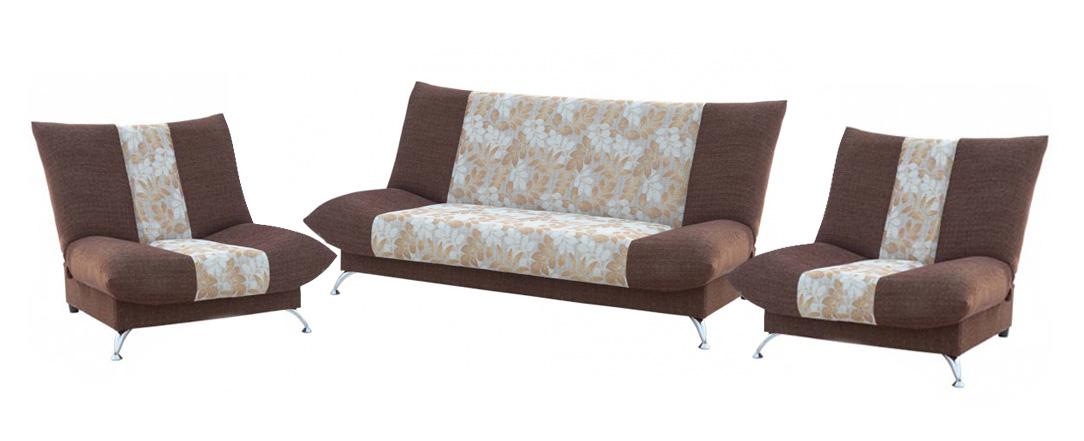 Комплект мягкой мебели Дрим 3+1+1Комплекты мягкой мебели<br>Размер: диван: 210х90 (сп.м. 140х210); кресло: 110х90<br><br>Механизм: Книжка<br>Материалы: Массив сосны, высокопрочная фанера<br>Каркас: Деревянный<br>Полный размер: 210х90<br>Спальное место: 140х210<br>Размер кресла: 110х90<br>Наполнитель: ППУ высокой плотности (Пенополиуретан)<br>Комплектация: Ящик для белья<br>Примечание: Стоимость указана по минимальной категории ткани<br>Изготовление и доставка: 8-10 дней<br>Условия доставки: Бесплатная по Москве до подъезда<br>Условие оплаты: Оплата наличными при получении товара<br>Доставка по МО (за пределами МКАД): 30 руб./км<br>Доставка в пределах ТТК: Доставка в центр Москвы осуществляется ночью, с 22.00 до 6.00 утра<br>Подъем на грузовом лифте: 1100 руб.<br>Подъем без лифта: 550 руб./этаж<br>Сборка: 600 руб.<br>Гарантия: 12 месяцев<br>Производство: Россия<br>Производитель: Утин