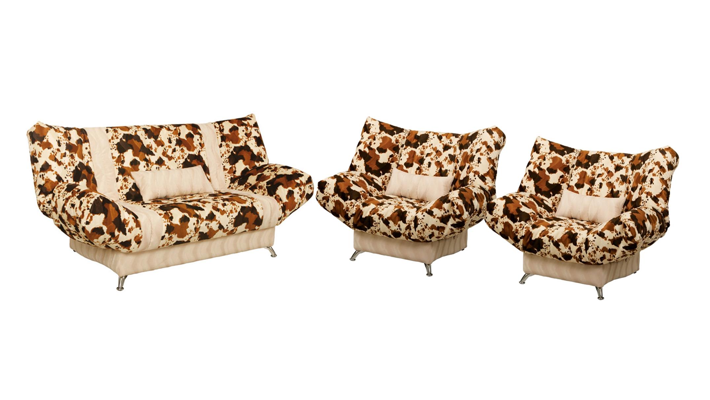 Комплект мягкой мебели Лагуна-3Комплекты мягкой мебели<br>Размер:<br><br>Механизм: Клик-кляк<br>Каркас: Металлический<br>Полный размер (ДхГхВ): 213х92х100<br>Спальное место: 213х130<br>Размер кресла: 150х95х100<br>Наполнитель: Пружинный блок с настилом из пенополиуретана в чехле<br>Комплектация: Диван укомплектован ящиком для белья, металлическая рамка с ортопедическими латами<br>Съемный чехол: Выполнен из мебельной ткани, простеганной на синтетическом волокне (периотек)<br>Примечание: Стоимость указана по минимальной категории ткани<br>Изготовление и доставка: 14-20 дней<br>Условия доставки: Бесплатная по Москве до подъезда<br>Условие оплаты: Оплата наличными при получении товара<br>Доставка по МО (за пределами МКАД): 35 руб./км., за пределы трассы А-107 (ММК) +500 руб.<br>Доставка в пределах ТТК: +1000 руб., строго до 7 утра<br>Подъем на грузовом лифте: 3% от стоимости изделия<br>Подъем без лифта: 2% от стоимости изделия за 1 этаж<br>Сборка: 600 руб.<br>Гарантия: 18 месяцев<br>Производство: Россия<br>Производитель: NiK