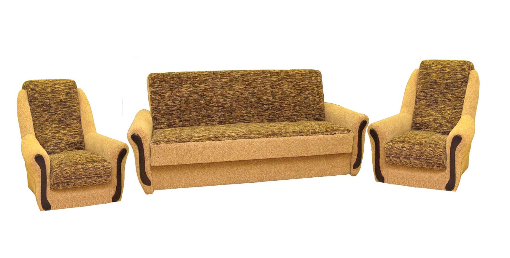 Комплект мягкой мебели Прима 3+1+1Комплекты мягкой мебели<br>Размер: диван: 220x95 (сп. м. 122x190); кресло: 80x79<br><br>Механизм: Книжка<br>Материалы: Массив сосны, высокопрочная фанера<br>Каркас: Деревянный<br>Полный размер: 220x95<br>Спальное место: 122x190<br>Размер кресла: 80x79<br>Наполнитель: Пружинный блок Боннель, короб ППУ по периметру<br>Комплектация: Ящик для белья<br>Примечание: Стоимость указана по минимальной категории ткани<br>Изготовление и доставка: 8-10 дней<br>Условия доставки: Бесплатная по Москве до подъезда<br>Условие оплаты: Оплата наличными при получении товара<br>Доставка по МО (за пределами МКАД): 30 руб./км<br>Доставка в пределах ТТК: Доставка в центр Москвы осуществляется ночью, с 22.00 до 6.00 утра<br>Подъем на грузовом лифте: 1100 руб.<br>Подъем без лифта: 550 руб./этаж<br>Сборка: 600 руб.<br>Гарантия: 12 месяцев<br>Производство: Россия<br>Производитель: Утин