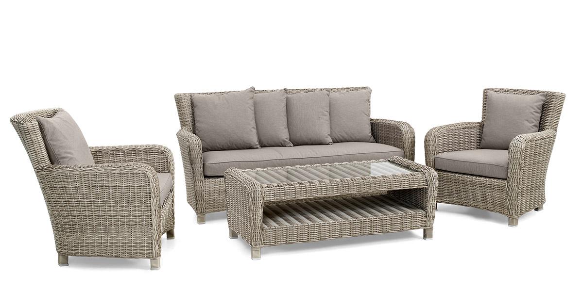 Комплект плетеной мебели Venus beige Brafab