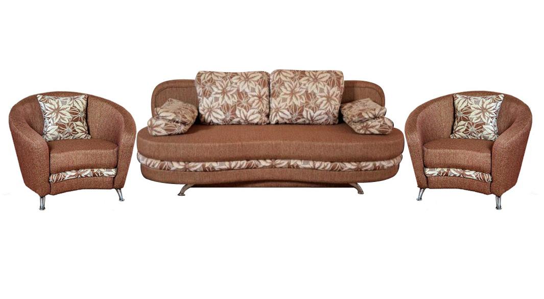 Комплект мягкой мебели Кантри 3+1+1 Фокстрот Размер: 205х100 В85 (сп.м. 155х205)