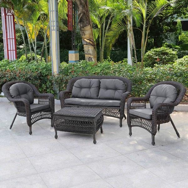 Комплект мебели из искусственного ротанга 2+1+1 LV520В