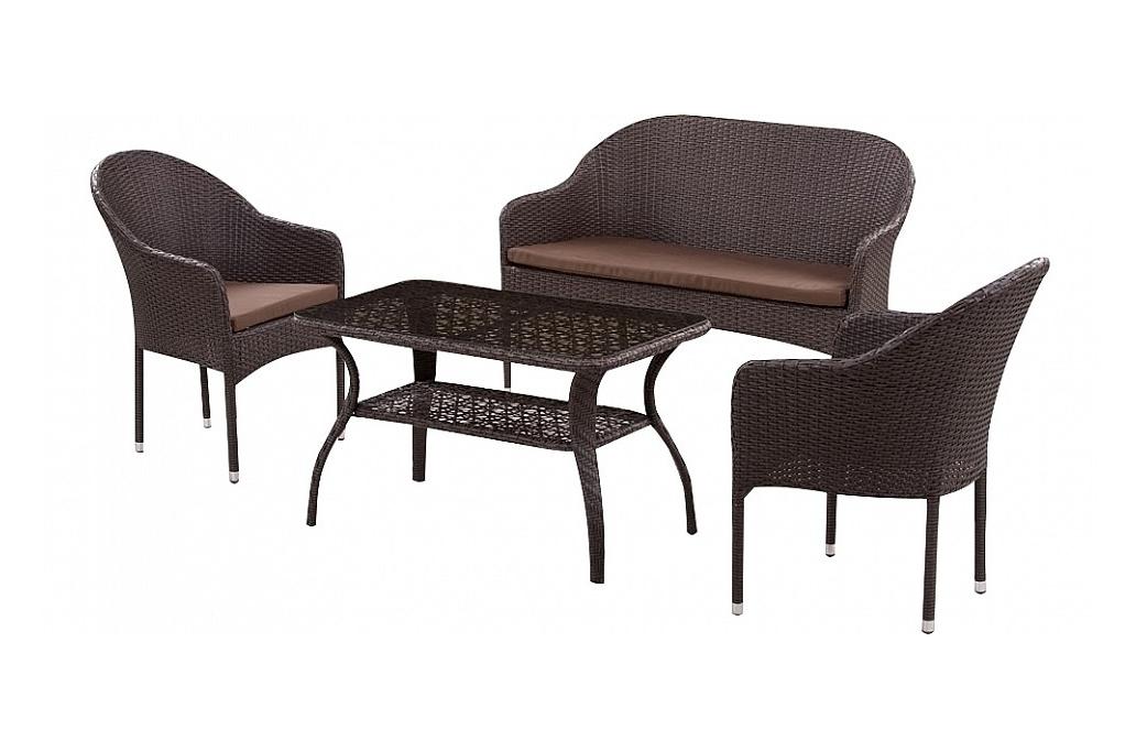Комплект мебели из искусственного ротанга 2+1+1 S20B-2 S20B-1 ST20B Афина