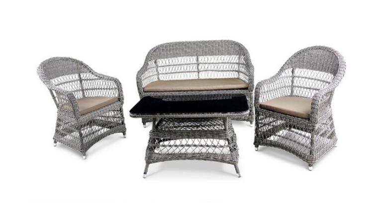 Комплект мебели из искусственного ротанга 2+1+1 Y-306-2 Y-306 ST306Плетеная мебель из искусственного ротанга<br><br><br>Артикул: Y-306-2 Y-306 ST306<br>Материалы: Искусственный ротанг, стекло закаленное 5 мм<br>Каркас: Сталь<br>Полный размер: Диван: 136x74 В90, кресло: 63x74 В90, Стол: 90x50 В43<br>Комплектация: 1 диван, 1 стол, 2 кресла, подушки для сидения<br>Цвет: Light brown<br>Изготовление и доставка: 2-3 дня<br>Условия доставки: Бесплатная по Москве до подъезда<br>Условие оплаты: Оплата наличными при получении товара<br>Производство: Китай<br>Производитель: Афина Мебель