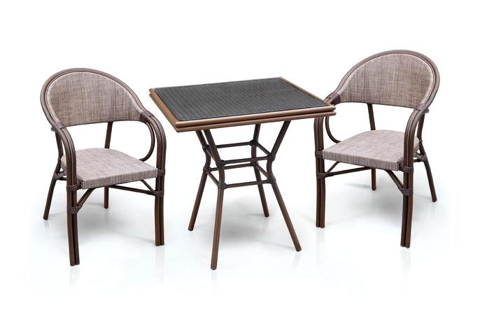Комплект мебели из искусственного ротанга 2+1 А1016-D2003 Афина Мебель