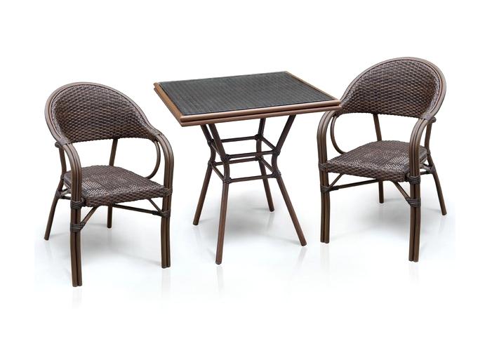 Комплект мебели из искусственного ротанга 2+1 А1016-D2003SR Афина