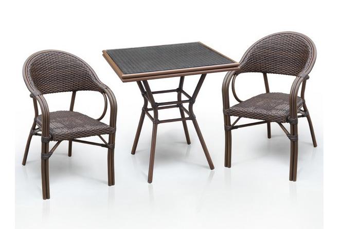 Комплект мебели из искусственного ротанга 2+1 А1016-D2003SR Афина Мебель