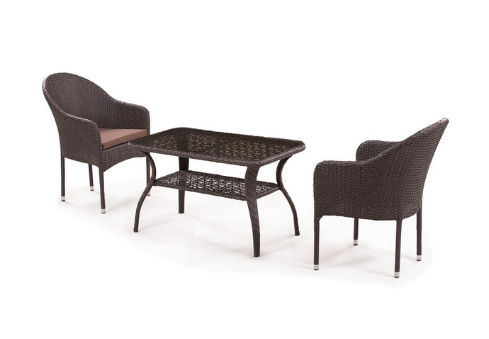 Комплект мебели Джина из искусственного ротанга 2+1 ST20B/ S20B-1-2PCS Афина Мебель