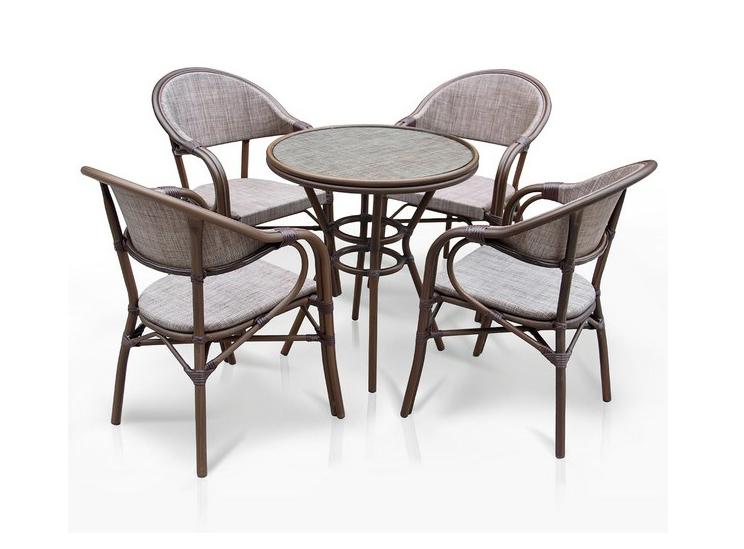 Комплект мебели из искусственного ротанга 4+1 А1007- D2003