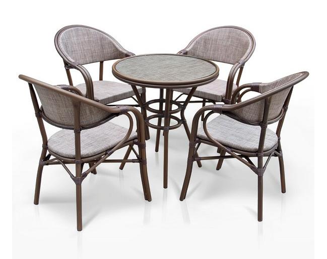 Комплект мебели из искусственного ротанга 4+1 А1007- D2003 Афина Мебель