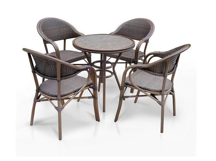 Комплект мебели из искусственного ротанга 4+1 А1007- D2003SR-4PCS